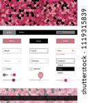 light pink  red vector web ui...