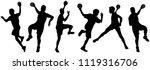 handball player in action ... | Shutterstock .eps vector #1119316706