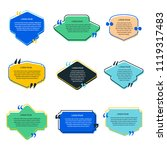 color quote box vector set on... | Shutterstock .eps vector #1119317483
