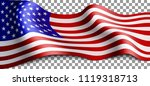 long american flag on... | Shutterstock .eps vector #1119318713