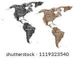 sketch america letter text...   Shutterstock .eps vector #1119323540