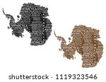 sketch antarctica letter text...   Shutterstock .eps vector #1119323546