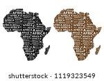 sketch african letter text...   Shutterstock .eps vector #1119323549