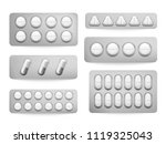 blister 3d packs white... | Shutterstock .eps vector #1119325043