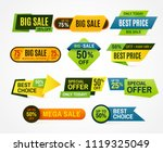 sale stickers. price tag label. ... | Shutterstock .eps vector #1119325049