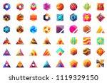 modern minimal vector logo for... | Shutterstock .eps vector #1119329150
