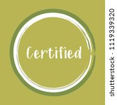 certified stamp products icon ... | Shutterstock .eps vector #1119339320