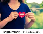 close up woman hands connecting ... | Shutterstock . vector #1119339608