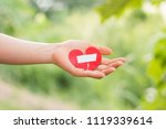 close up woman hands connecting ... | Shutterstock . vector #1119339614