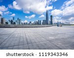 empty square with panoramic... | Shutterstock . vector #1119343346