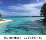 lagoon views in bora bora   Shutterstock . vector #1119347450
