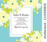flowers invitation card | Shutterstock .eps vector #1119350810