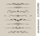 set of decorative dividers ... | Shutterstock .eps vector #1119351980