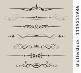 set of decorative dividers ... | Shutterstock .eps vector #1119351986