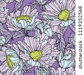 floral seamless pattern.... | Shutterstock .eps vector #1119352568