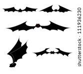 bat black silhouette... | Shutterstock .eps vector #111936230
