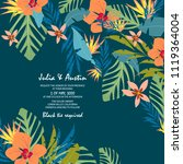 flowers tropical pattern | Shutterstock .eps vector #1119364004