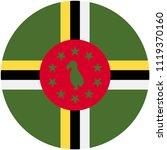 circular flag of dominica   Shutterstock .eps vector #1119370160