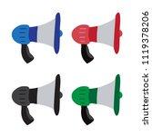 megaphone vector collection... | Shutterstock .eps vector #1119378206