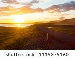 sunset around via iceland | Shutterstock . vector #1119379160