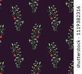 semless pattern with decorative ... | Shutterstock .eps vector #1119382316