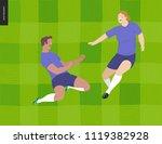 european football  soccer... | Shutterstock .eps vector #1119382928