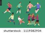 european football  soccer... | Shutterstock .eps vector #1119382934