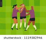 womens european football ...   Shutterstock .eps vector #1119382946
