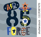 vintage air force typography  t ... | Shutterstock .eps vector #1119387470