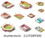 vector isometric stadiums ... | Shutterstock .eps vector #1119389300