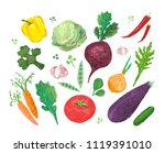 collage with illustration of... | Shutterstock . vector #1119391010