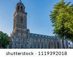 main church facade in the...