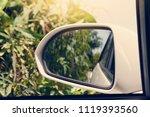 focus to mirror view backside... | Shutterstock . vector #1119393560