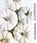 white pumpkins. fall autumn... | Shutterstock . vector #1119395219