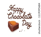poster with delicious cocoa... | Shutterstock .eps vector #1119395684
