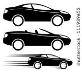 Stock vector vector icons cars 111939653