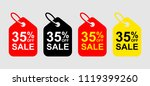 sale tag discount. 35  off sale ... | Shutterstock .eps vector #1119399260