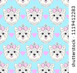 seamless pattern with head of... | Shutterstock .eps vector #1119412283