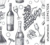 decorative seamless pattern... | Shutterstock .eps vector #1119417026