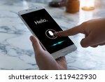 voice recognition   speech... | Shutterstock . vector #1119422930