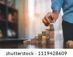 businessman planing and...   Shutterstock . vector #1119428609