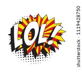 abbreviation lol   laugh out... | Shutterstock .eps vector #1119428750