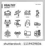 healthy icon set   Shutterstock .eps vector #1119429836