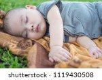 cute little boy sleep. subject... | Shutterstock . vector #1119430508