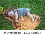 cute little boy sleep. subject... | Shutterstock . vector #1119430514