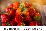 strawberry. fresh organic...   Shutterstock . vector #1119435143
