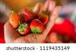 strawberry. fresh organic...   Shutterstock . vector #1119435149