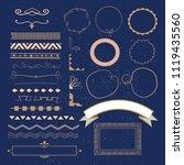 set of vector graphic elements... | Shutterstock .eps vector #1119435560