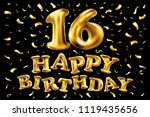 raster copy 16th birthday... | Shutterstock . vector #1119435656