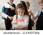 children bullying their... | Shutterstock . vector #1119437366